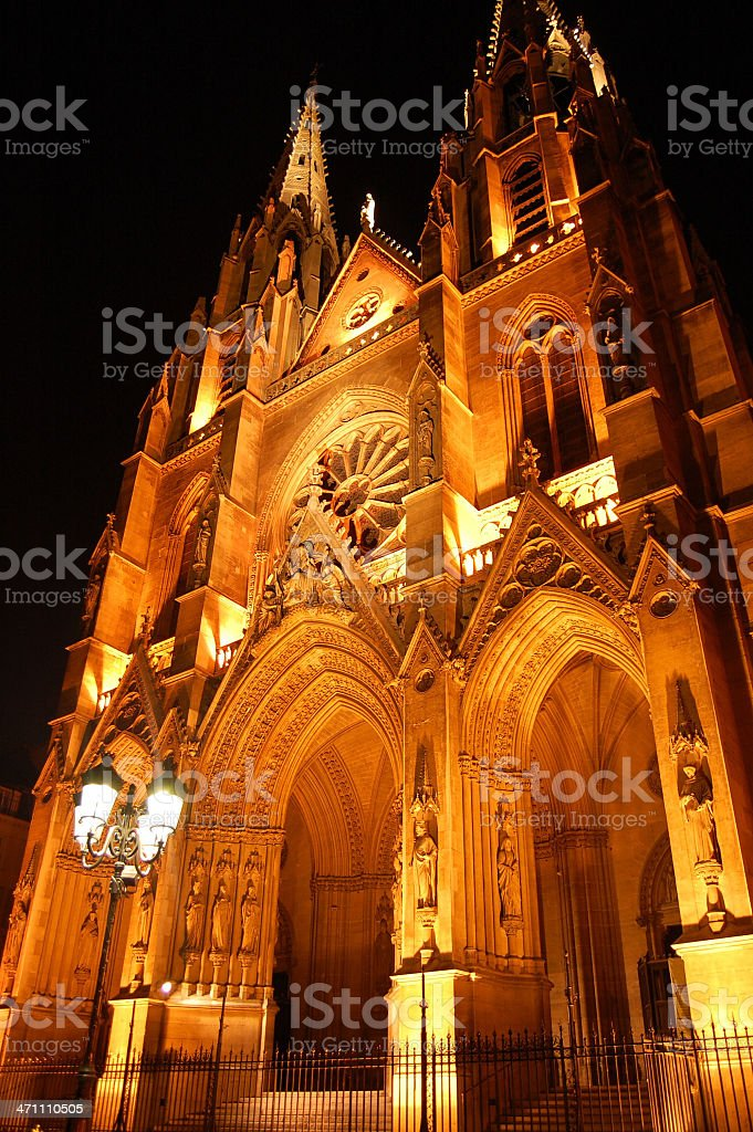 Basilique Ste-Clotilde, Paris royalty-free stock photo