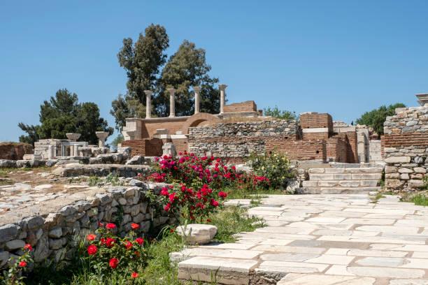 Basilica of st.john Selcuk izmir,Turkey stock photo