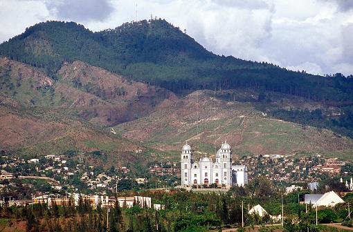 Basilica of Suyapa and National University Honduras Tegucigalpa Skyline