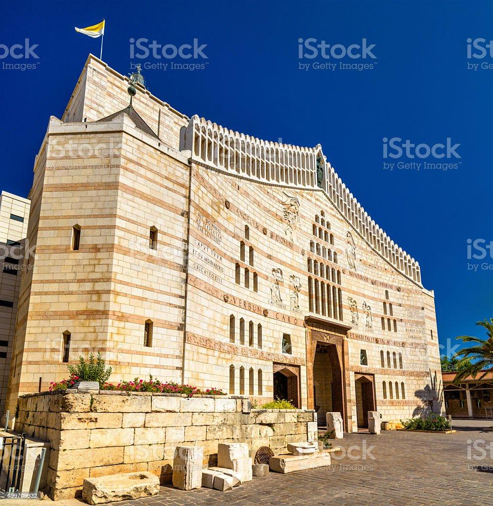 Basilica of the Annunciation, a Roman Catholic church in Nazareth stock photo