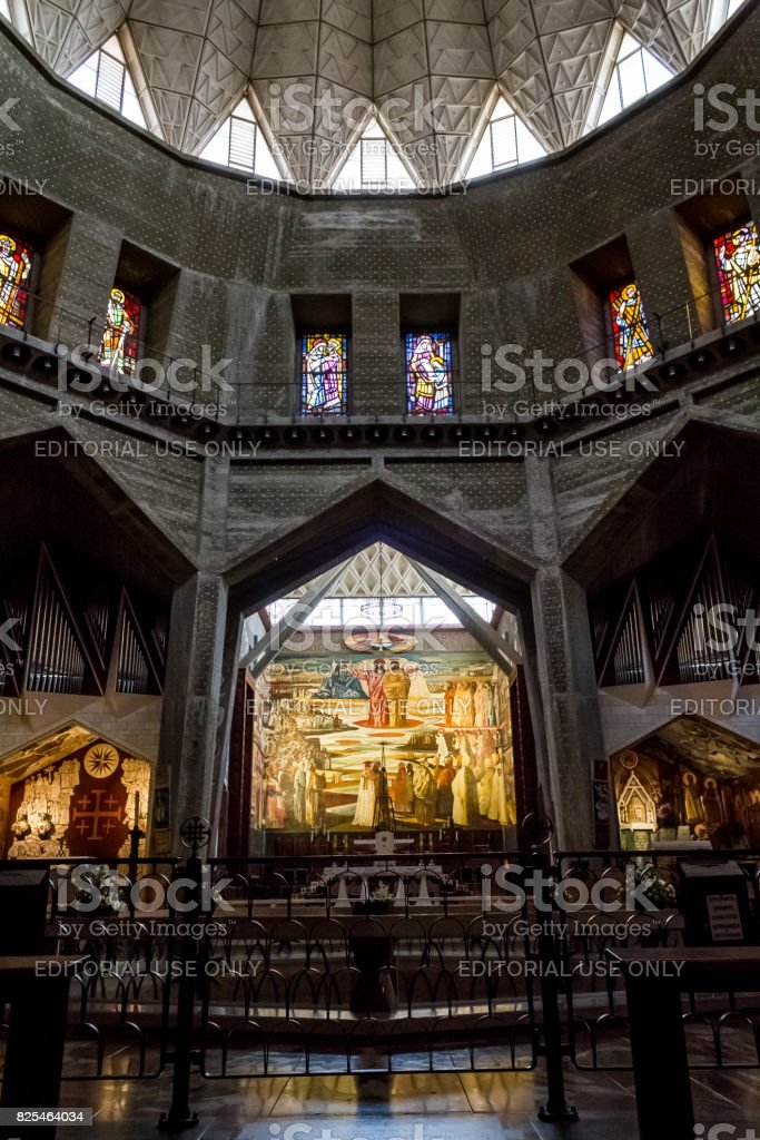 Basilica of the Annunciation in Nazareth, Israel stock photo