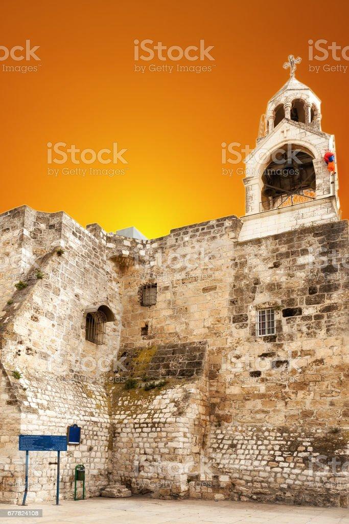 Basilica of the Nativity in Bethlehem stock photo