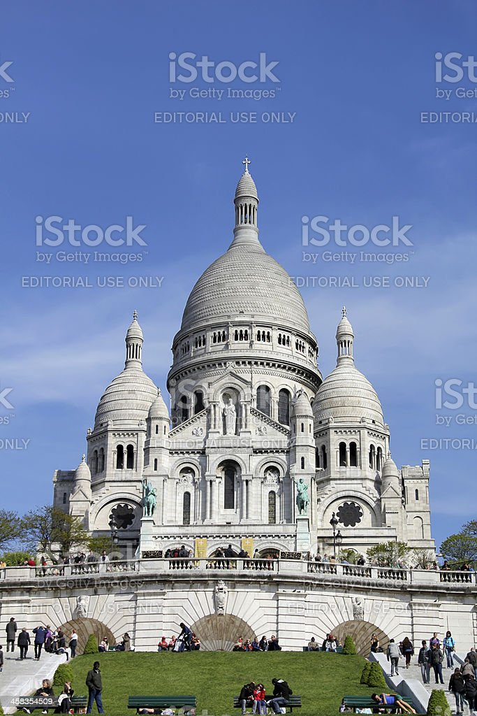 Basilique du Sacre-Coeur, Paris royalty-free stock photo