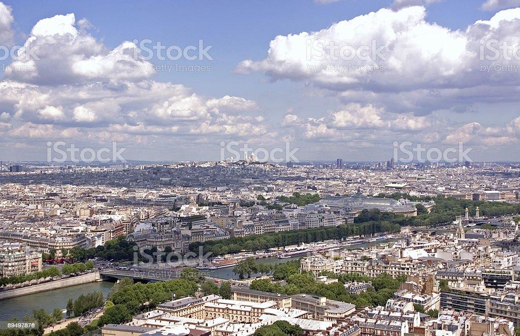 Bazylika Sacré-Cœur-odległy widok zbiór zdjęć royalty-free