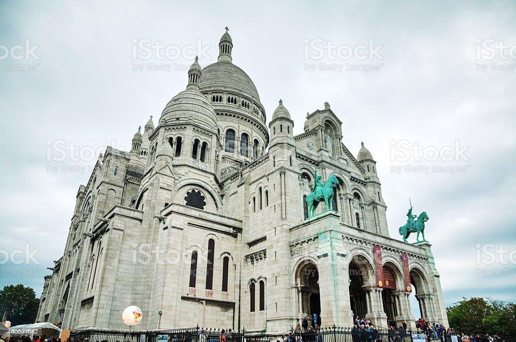 Basilica of the Sacred Heart of Paris (Sacre-Coeur) stock photo