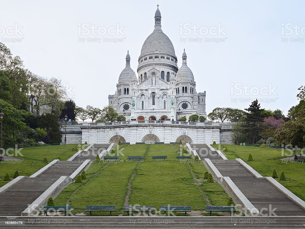 Basilique Du Sacre Coeur royalty-free stock photo