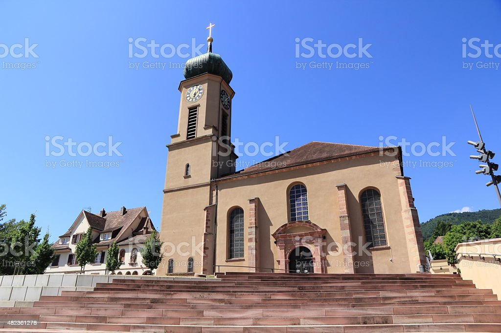 Basilica of Thierenbach in Alsace stock photo