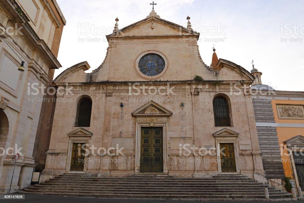 Basilica Parrocchiale Santa Maria del Popolo stock photo