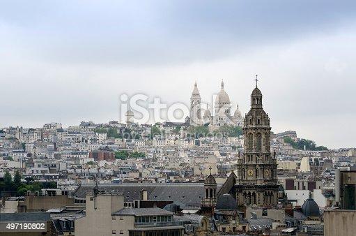 Basilica sacre coeur in Montmartre district, Paris, France