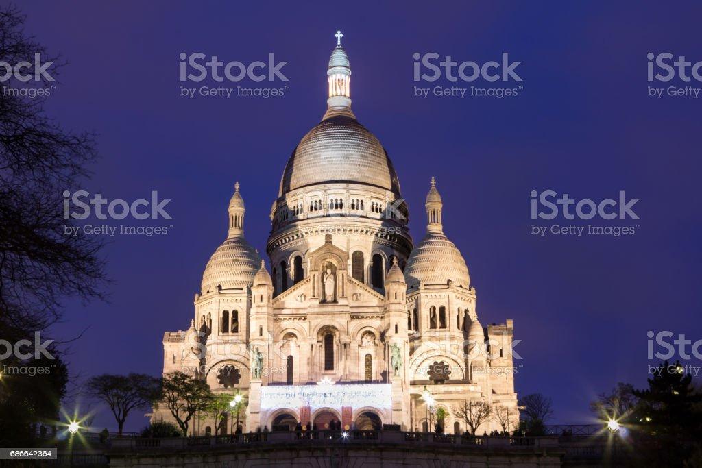 Basilica Sacre Coeur in Montmartre in Paris royalty-free stock photo