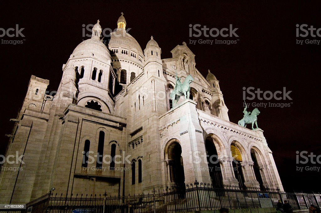 Basilica Sacred Heart of Paris royalty-free stock photo