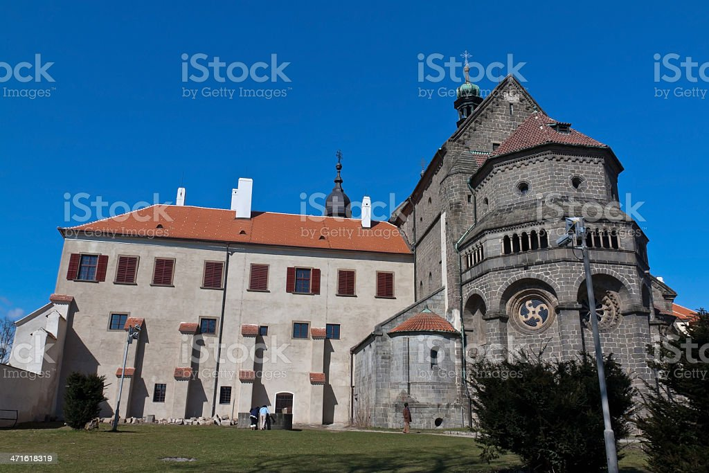 Basilica Saint Procopius in Trebic, Czec Republic. royalty-free stock photo