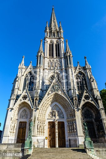 Basilique Saint-Epvre cathedral church in Nancy, Lorraine, France.