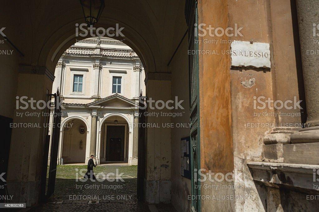 Basilica San Bonifacio e Alessio on the Aventino in Rome royalty-free stock photo