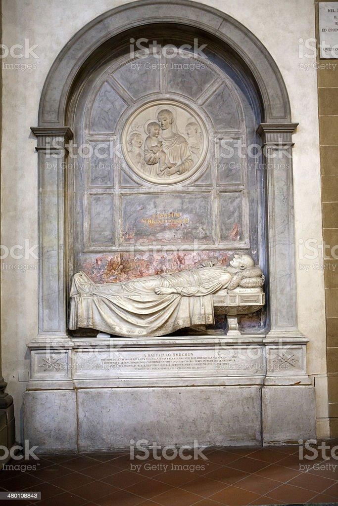 Basilica Santa Croce in Florence. stock photo