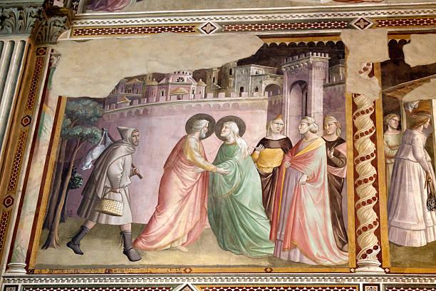 basilika santa croce in florenz. - giotto stock-fotos und bilder