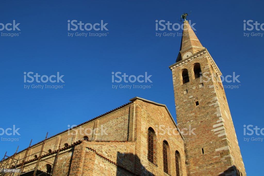 Basilica Santa Eufemia in  Grado, North Italy. stock photo