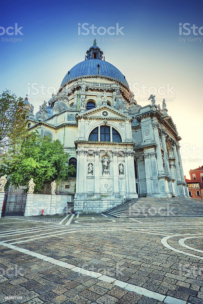 Basilica Santa Maria della Salute, Church in Venice, Italy royalty-free stock photo