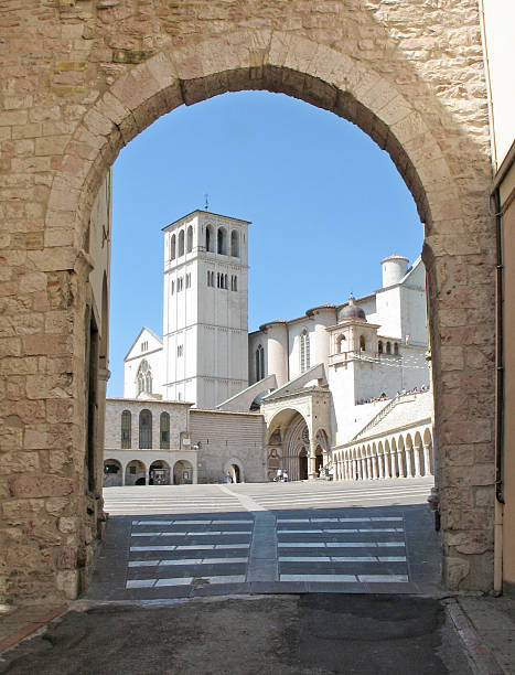 Basilica, St. Francis of Assisi stock photo