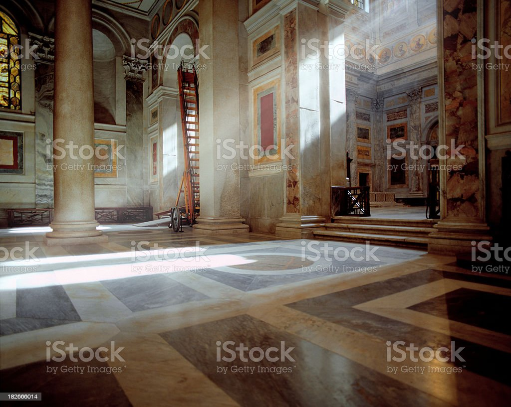 Basilica St. Paul outside the walls, Rome royalty-free stock photo