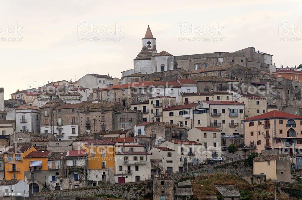 Basilicata (Potenza) - Oppido Lucano, ancient town stock photo