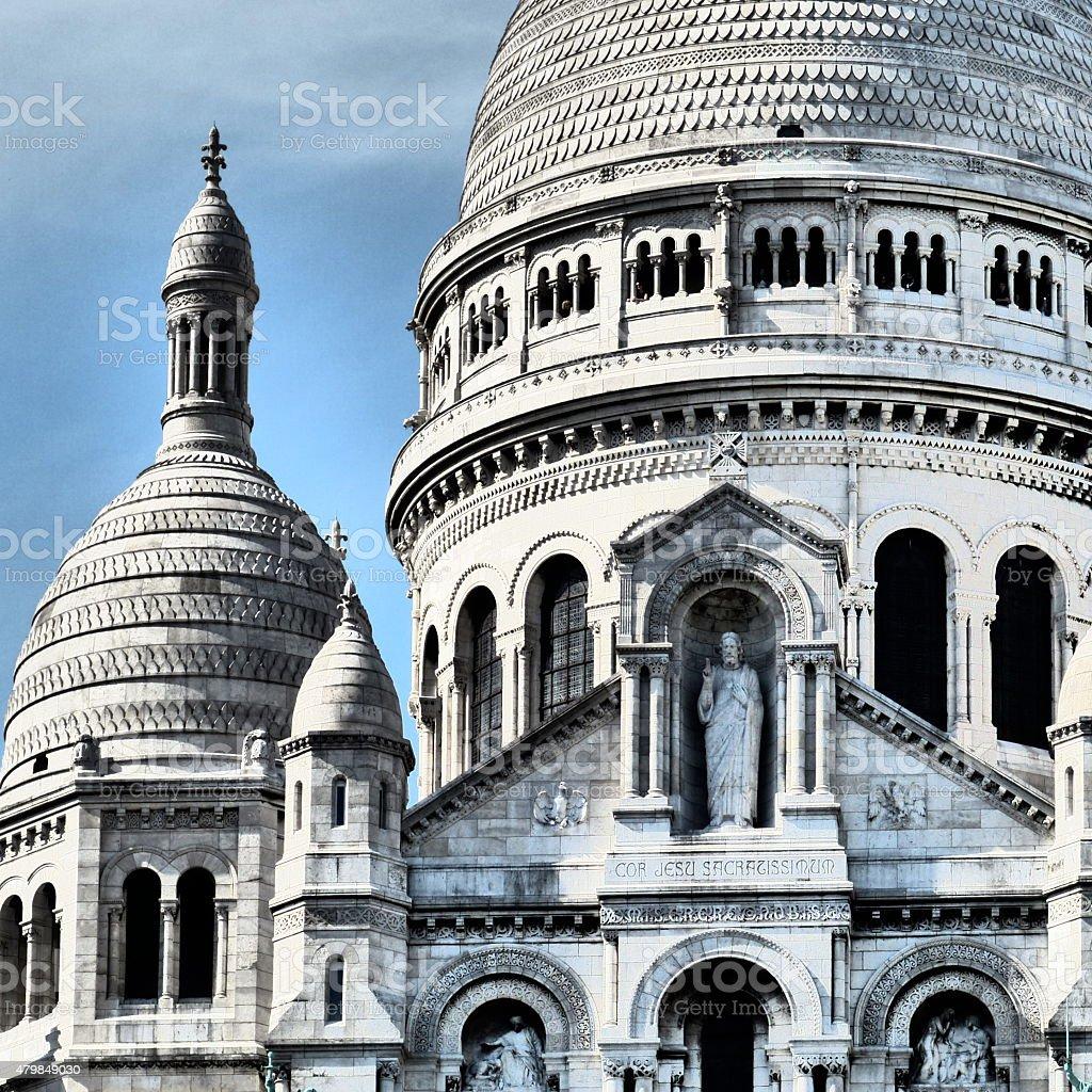 Basilique du Sacré-Coeur, Paris, Montmartre stock photo