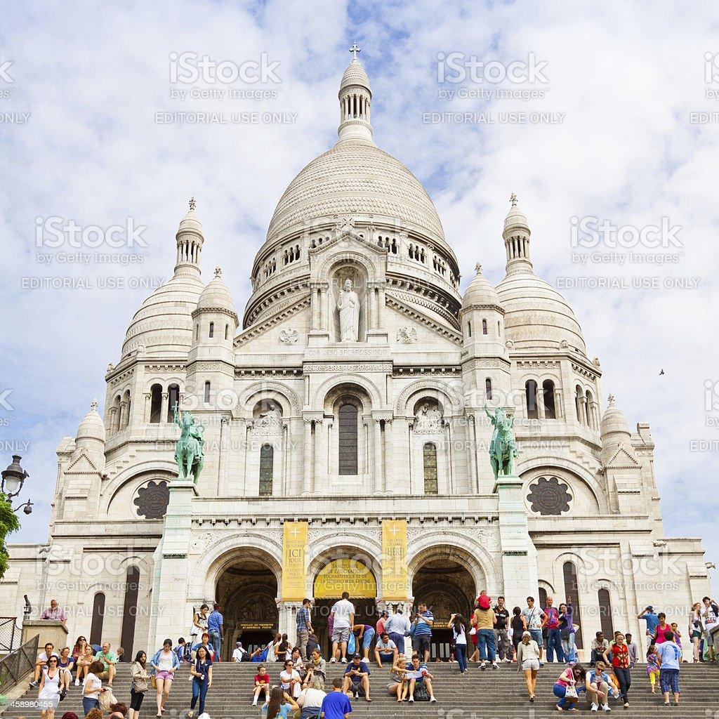 Basilique du Sacré-Coeur, Paris. royalty-free stock photo