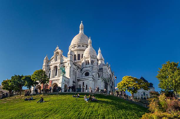 basilique du sacre coeur, montmartre, paris, france - montmatre utsikt bildbanksfoton och bilder