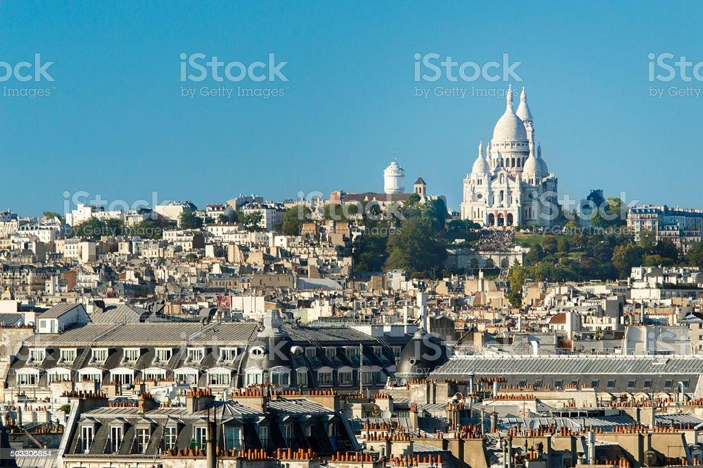Basilique Du Sacre Coeur, Montmartre, Paris - France stock photo