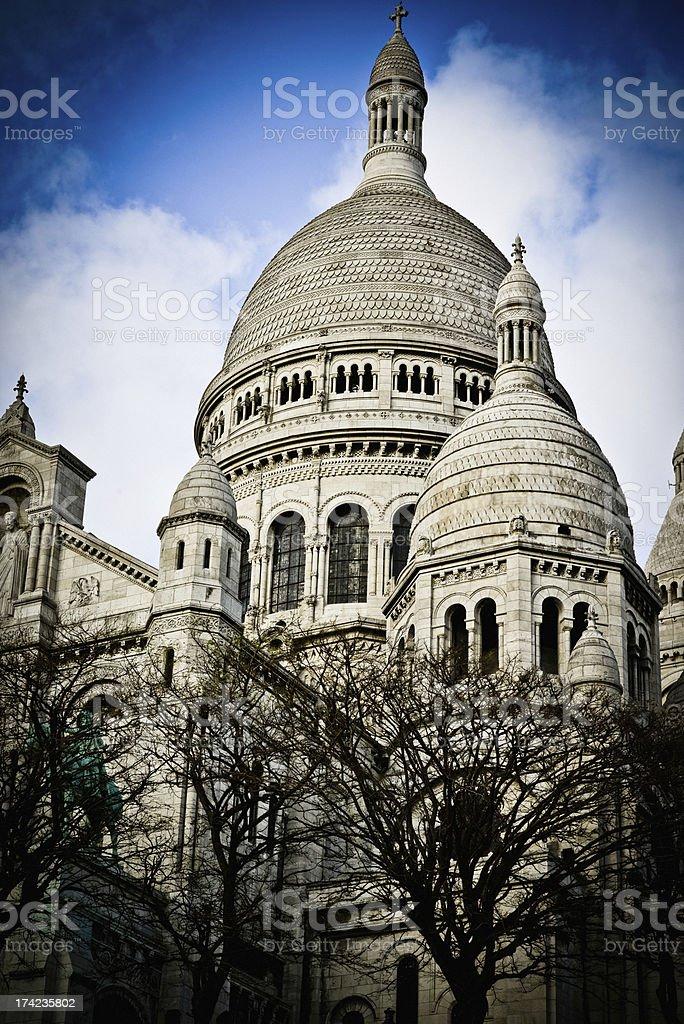 Basilique du Sacre-Coeur, Paris royalty-free stock photo