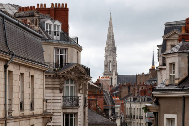 basilique saint-nicolas à nantes - nantes photos et images de collection