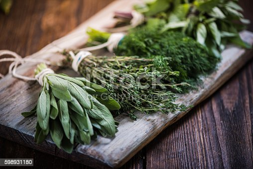 istock Basil,sage,dill,and thyme herbs 598931180