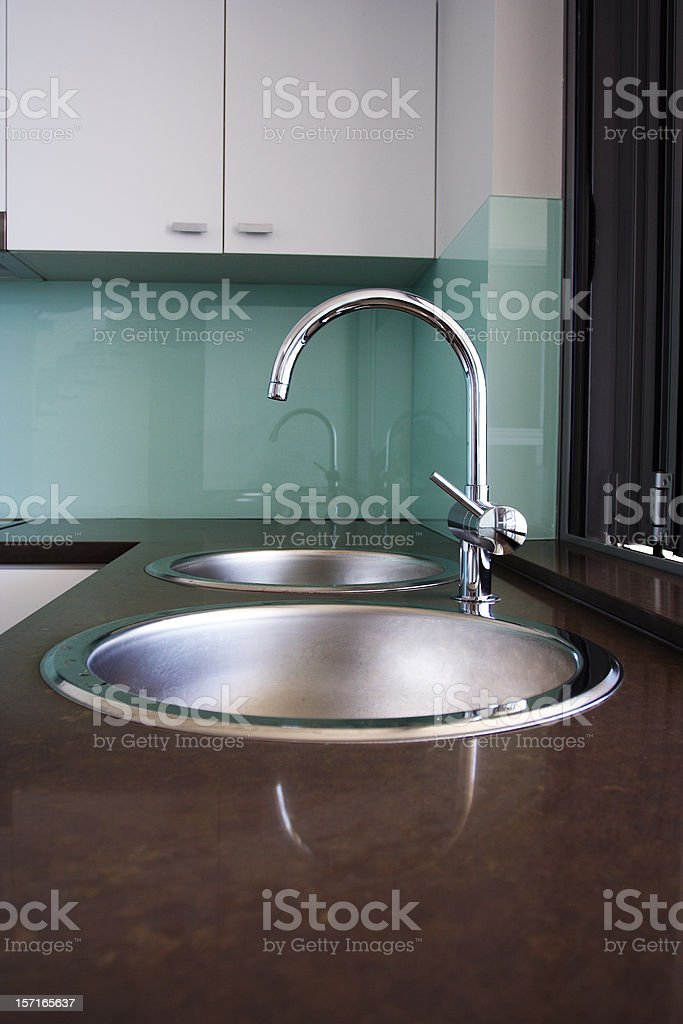 basin and benchtop design royalty-free stock photo