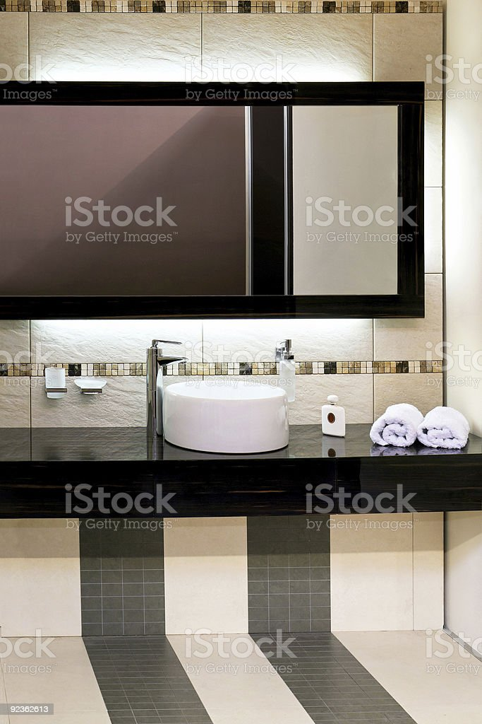Basin and mirror royalty-free stock photo