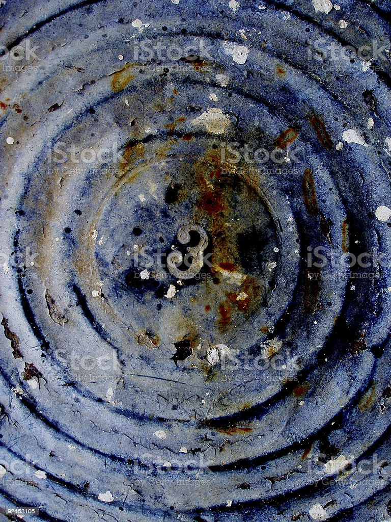 Basin Bottom with Paint Spatters - Three stock photo