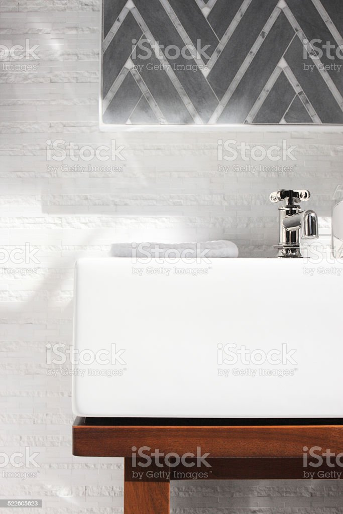 Basin Sink Vanity Bathroom Decor stock photo