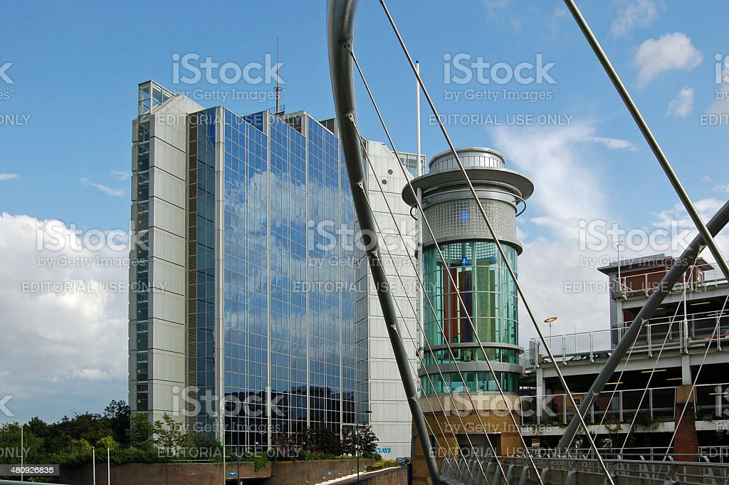Basingstoke Festival Place and Offices, Hampshire stock photo