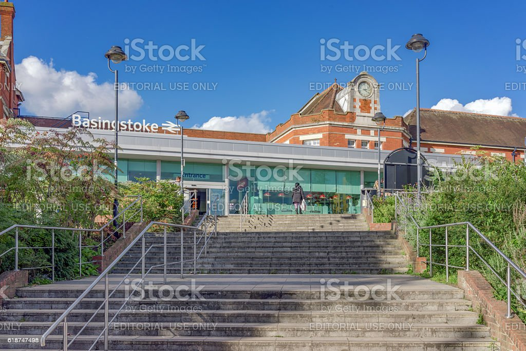 Basingstoke Railway Station stock photo