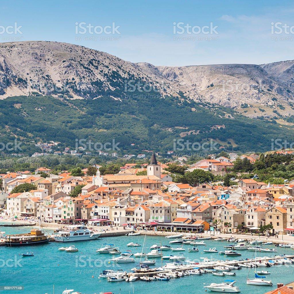 Baska, Insel Krk, Kroatien, Europa. Lizenzfreies stock-foto