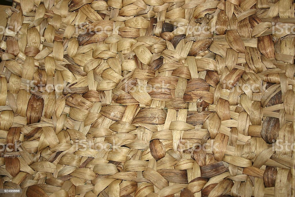 Basked wood royalty-free stock photo