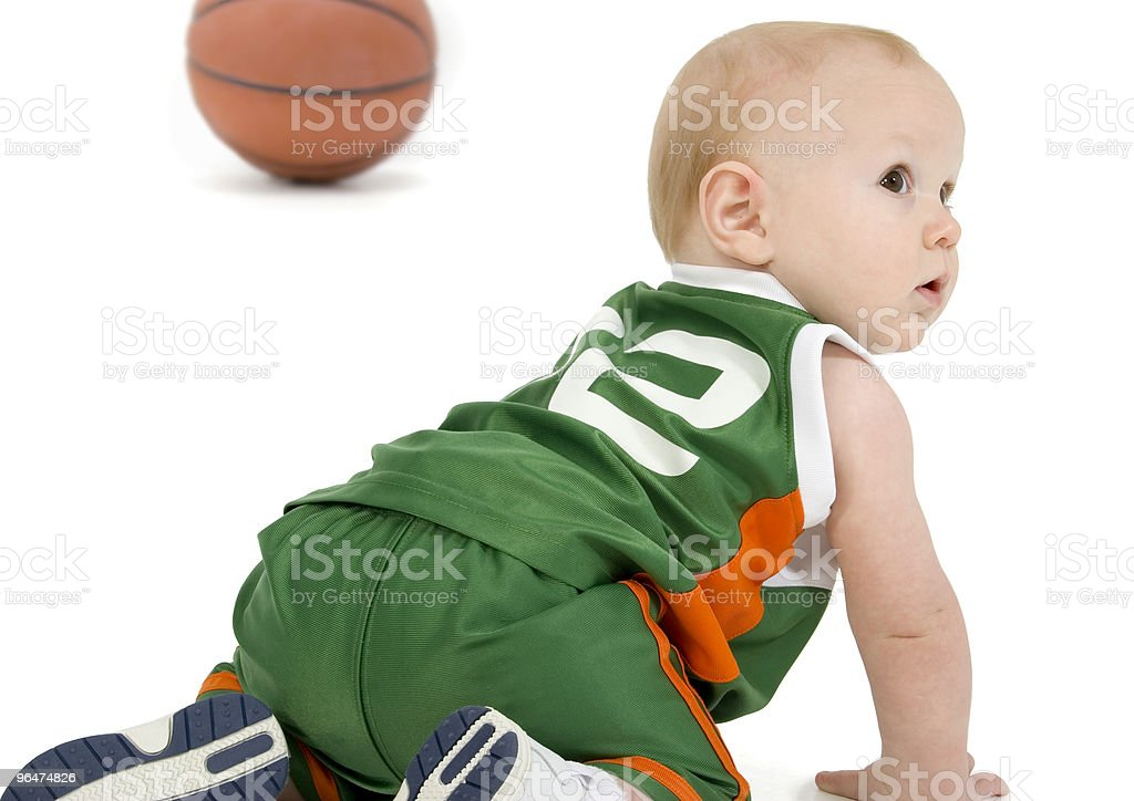 Basket Ball Baby royalty-free stock photo