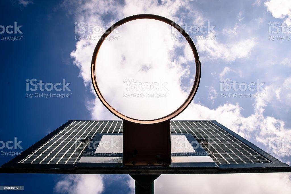 Basket ball hoop (looking skyward) II royalty-free stock photo