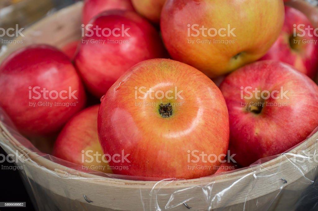 Basket Braeburn Apples stock photo