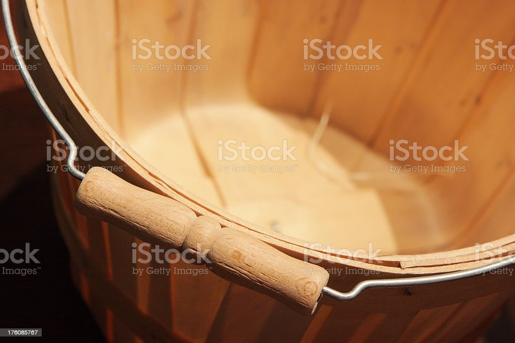 Basket Bucket Handle Bin Container royalty-free stock photo