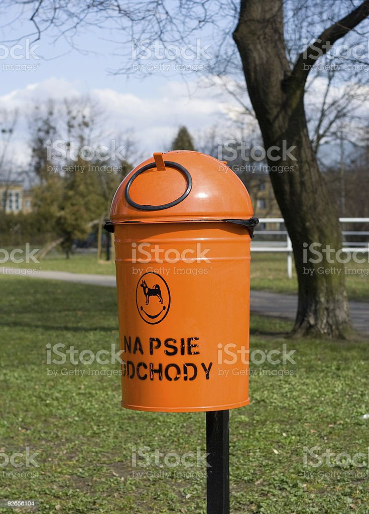 basket for dog excrements royalty-free stock photo