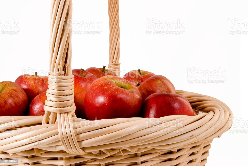 Basket full of Apples royalty-free stock photo