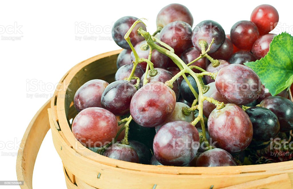 Basket Full of Grape Fruit stock photo
