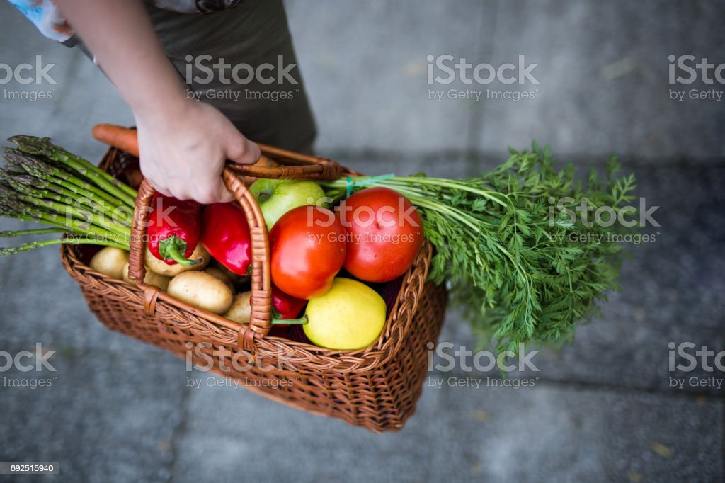 Basket full of health stock photo