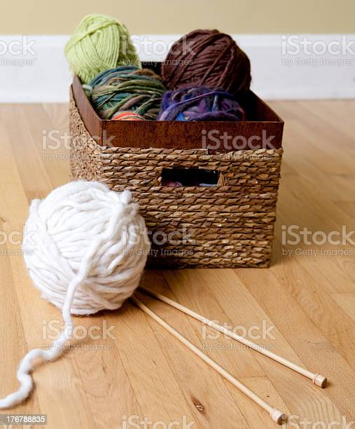 Basket full of yarn chunky wool and knitting needles picture id176788835?b=1&k=6&m=176788835&s=612x612&h=9fba0ggfboccrpaiw129 gxpnjbqdxuh7aheftvtsuw=