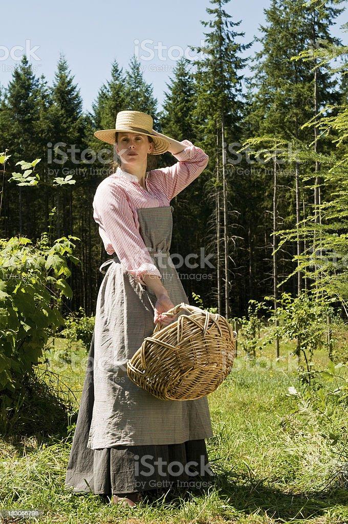 Basket Lady royalty-free stock photo